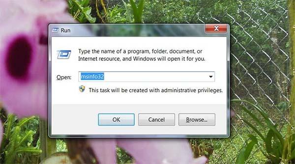 Kiểm tra thông tin máy tính bằng lệnh msinfo32