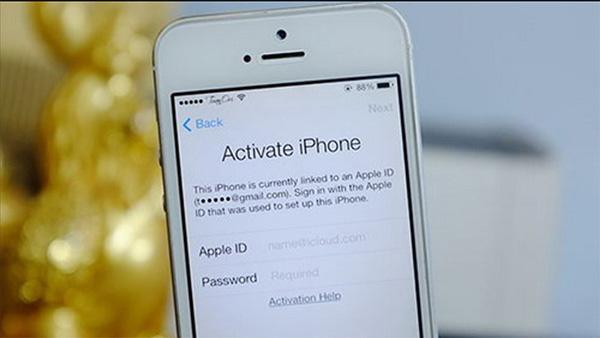 iPhone bị dính icloud khi chạy phần mền