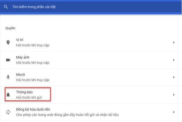 Cách tắt thông báo trên Google Chrome (1)