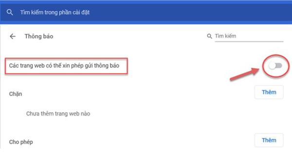 Cách tắt thông báo trên Google Chrome (2)
