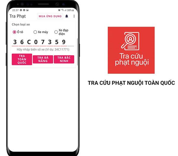 Ứng dụng tra cứu lỗi vi phạm luật giao thông trên toàn Việt Nam